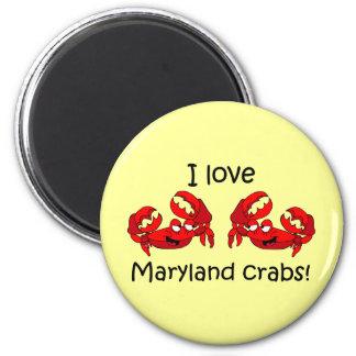 I love maryland crabs! 6 cm round magnet