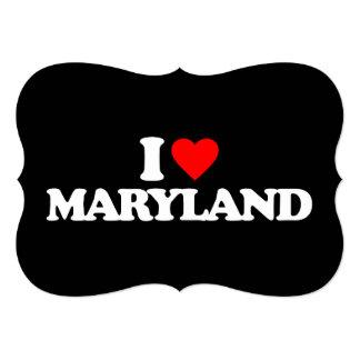 """I LOVE MARYLAND 5"""" X 7"""" INVITATION CARD"""