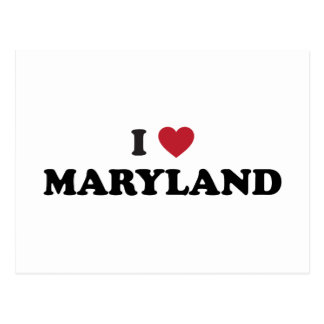 I Love Maryland Postcard