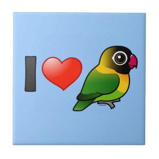 I Love Masked Lovebirds Tiles