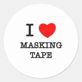 I Love Masking Tape Round Sticker