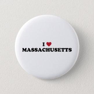 I Love Massachusetts 6 Cm Round Badge