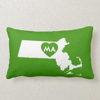 I Love Massachusetts State Lumbar Pillow