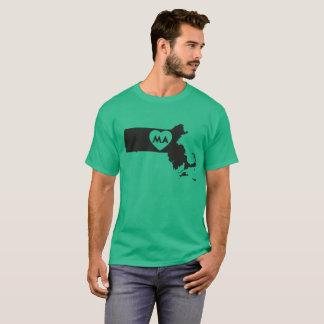I Love Massachusetts State Men's Dark T-Shirt