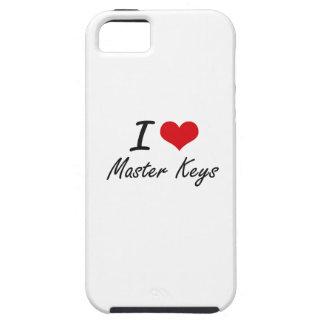 I Love Master Keys Tough iPhone 5 Case