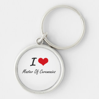 I Love Master Of Ceremonies Silver-Colored Round Key Ring