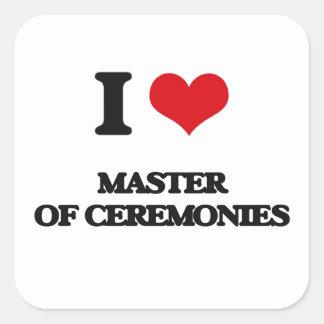 I Love Master Of Ceremonies Square Stickers