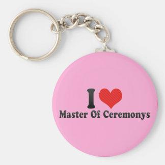 I Love Master Of Ceremonys Keychains