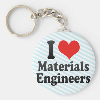 I Love Materials Engineers Key Chains