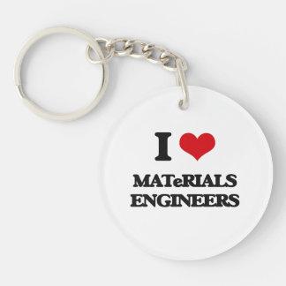 I love Materials Engineers Keychain