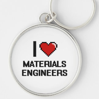 I love Materials Engineers Silver-Colored Round Key Ring