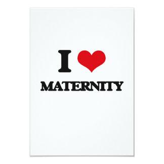"""I Love Maternity 3.5"""" X 5"""" Invitation Card"""