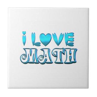 I Love Math Ceramic Tile