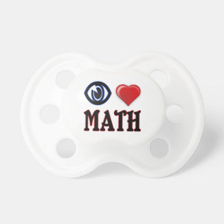 I Love Math Baby Pacifiers