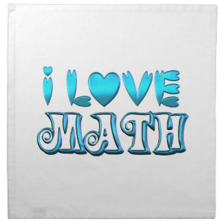 I Love Math Napkin