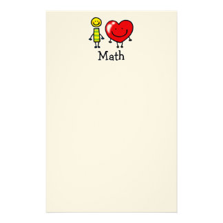 i love math personalised stationery