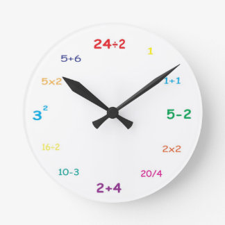 I love math! wall clock