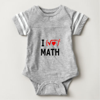 I Love Math White Baby Bodysuit