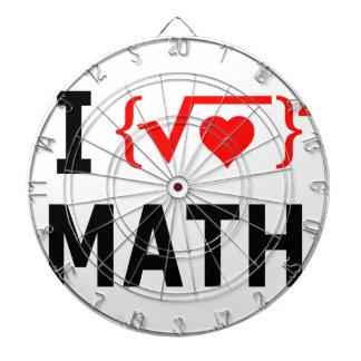 I Love Math White Dartboard