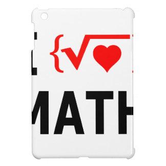 I Love Math White iPad Mini Cover