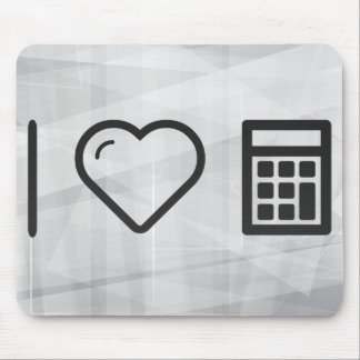I Love Mathematical Operations Mouse Pad