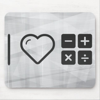 I Love Mathematical Problems Mouse Pad