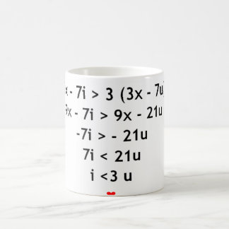 I love mathematics!! coffee mug