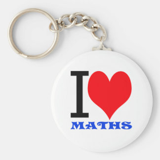 I love maths key ring