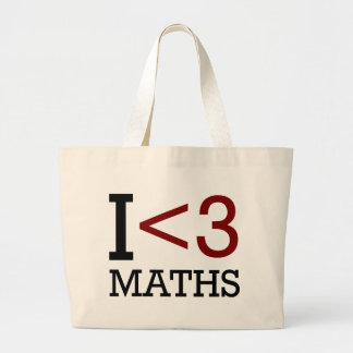 I Love Maths Large Tote Bag