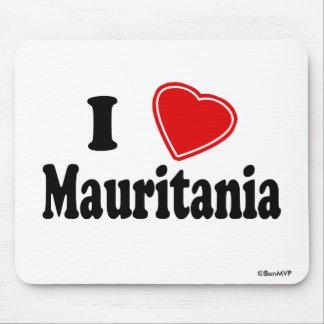 I Love Mauritania Mouse Pads