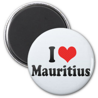 I Love Mauritius 6 Cm Round Magnet