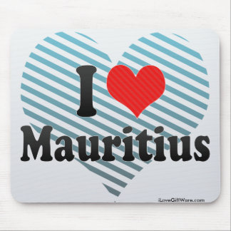 I Love Mauritius Mouse Pad