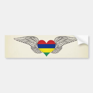 I Love Mauritius -wings Bumper Sticker