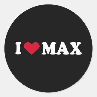 I LOVE MAX CLASSIC ROUND STICKER