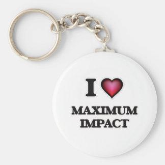 I Love Maximum Impact Key Ring