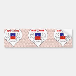 I Love Mayotte Bumper Sticker