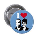 I Love McCain and Palin Button