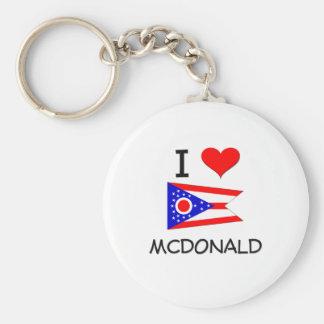 I Love Mcdonald Ohio Key Chain