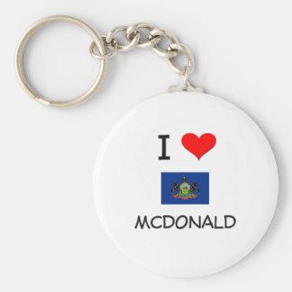 I Love Mcdonald Pennsylvania Key Chain