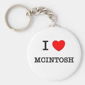 I Love Mcintosh Keychain