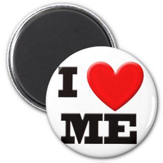 I Love Me 6 Cm Round Magnet