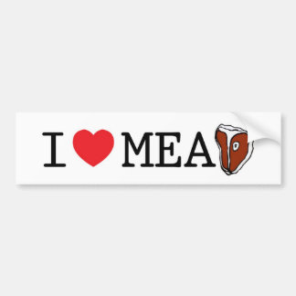 I Love Meat Bumper Sticker