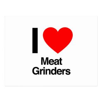 i love meat grinders postcards