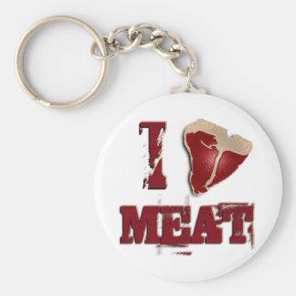 I Love Meat Keychain