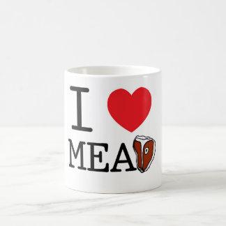 I Love Meat Basic White Mug