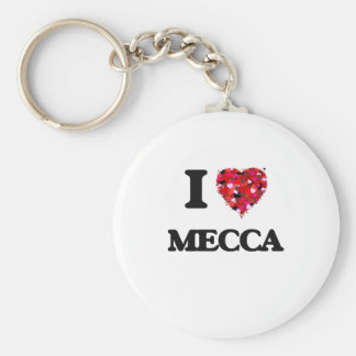 I Love Mecca Basic Round Button Key Ring