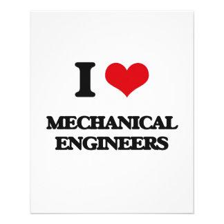 I love Mechanical Engineers Custom Flyer