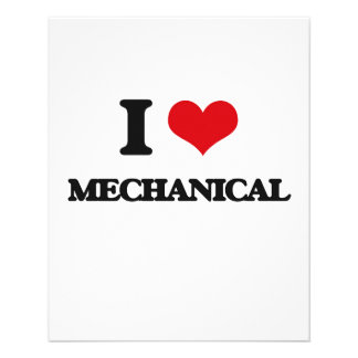 I Love Mechanical Personalized Flyer