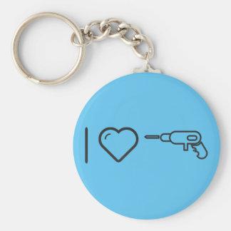I Love Mechanical Key Ring