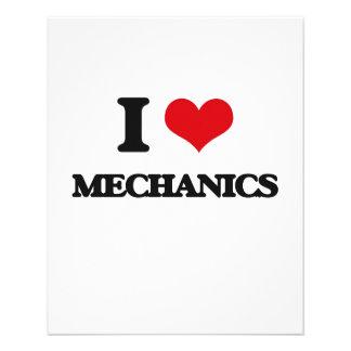 I Love Mechanics Flyer Design